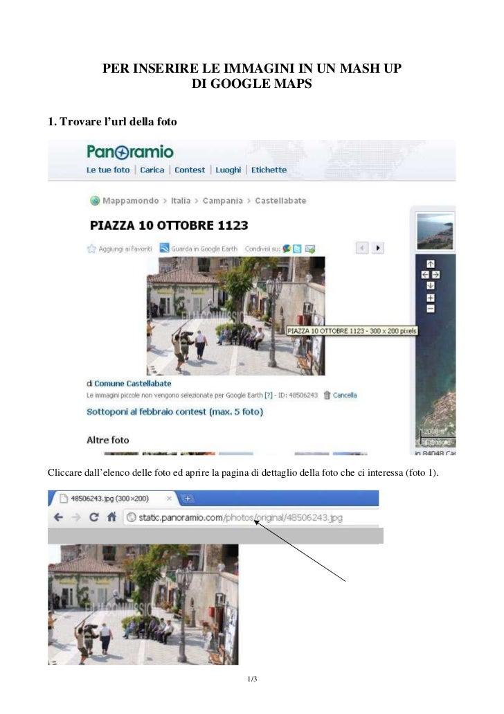 inserire foto in un mush-up con le Google maps