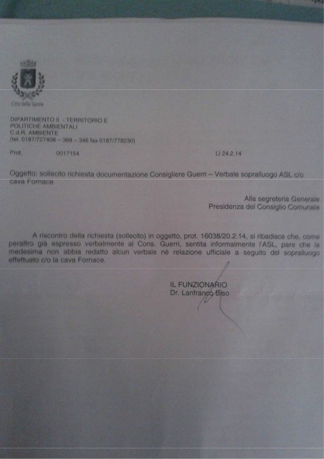 lettera Comune Spezia