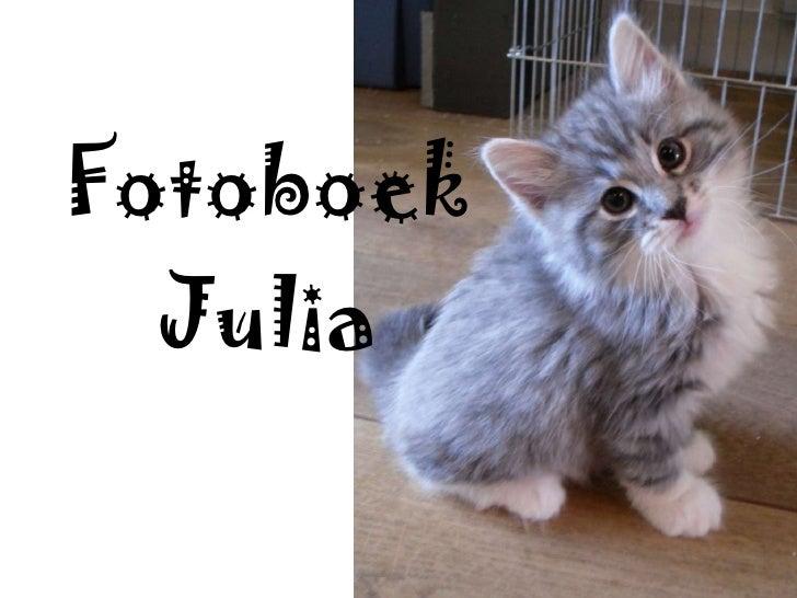 Fotoboek Julia