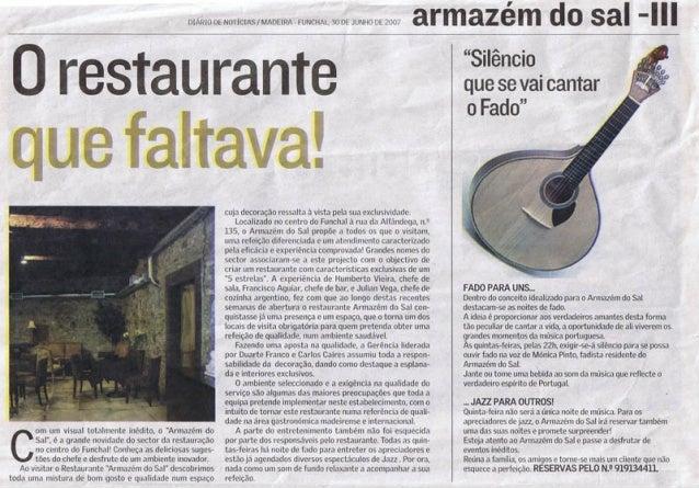 O restaurante que faltava in Revista DN - Junho de 2007 - part II