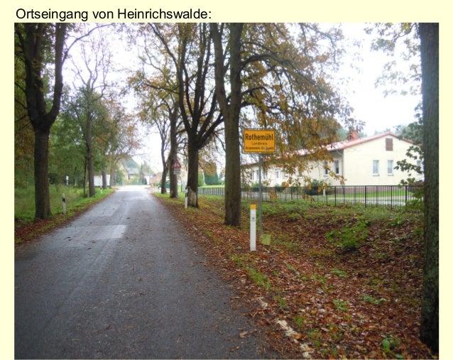 Ortseingang von Heinrichswalde: