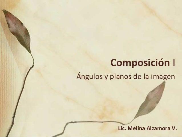 Composición IÁngulos y planos de la imagen            Lic. Melina Alzamora V.