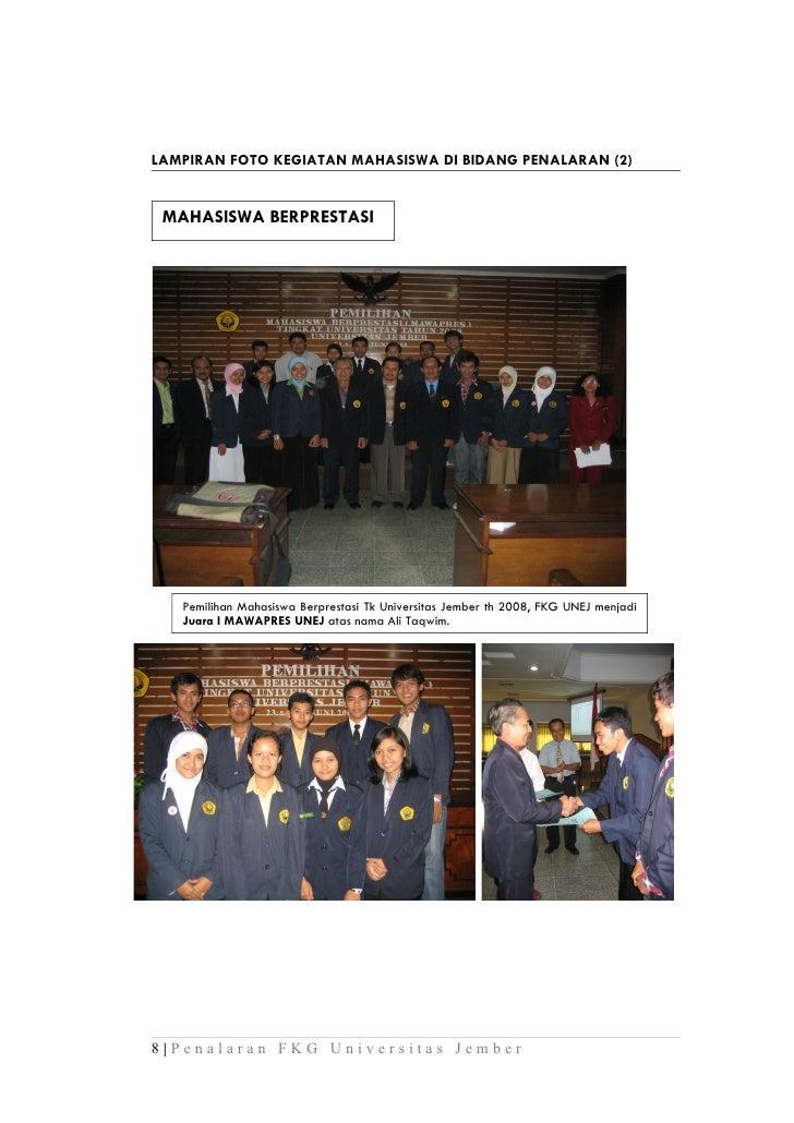 LAMPIRAN FOTO KEGIATAN MAHASISWA DI BIDANG PENALARAN (2) MAHASISWA BERPRESTASI   Pemilihan Mahasiswa Berprestasi Tk Univer...