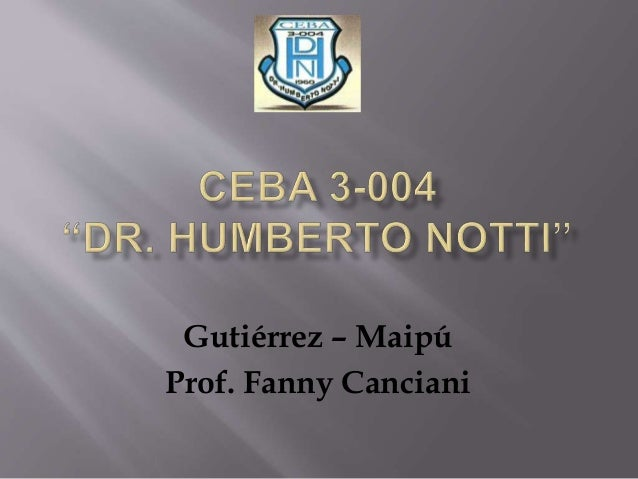 Gutiérrez – Maipú Prof. Fanny Canciani
