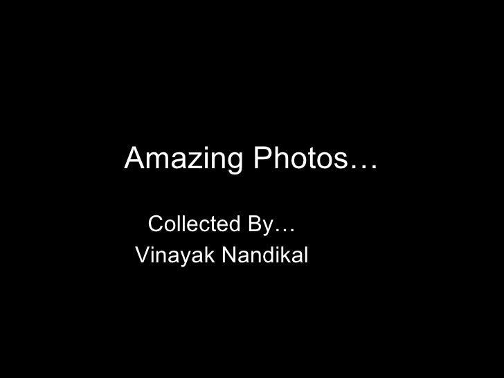 Amazing Photos… Collected By… Vinayak Nandikal