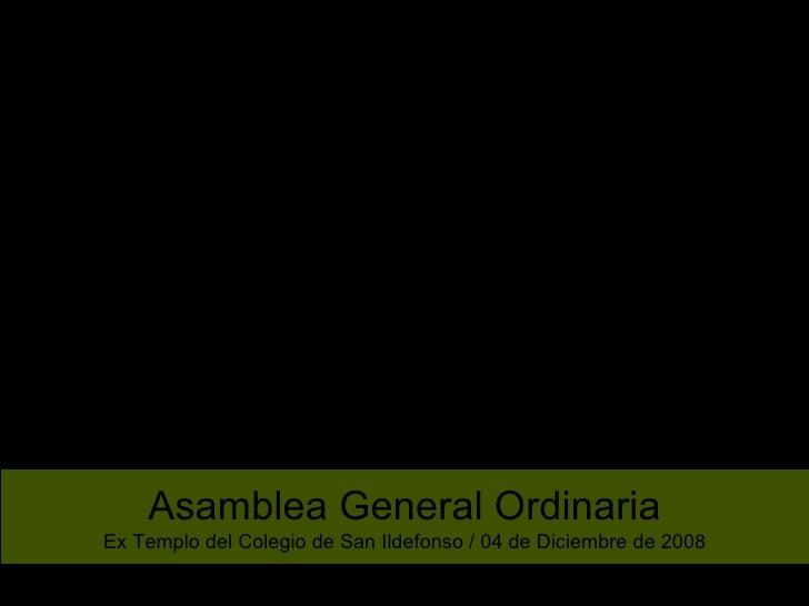 Fotos Asamblea 2008