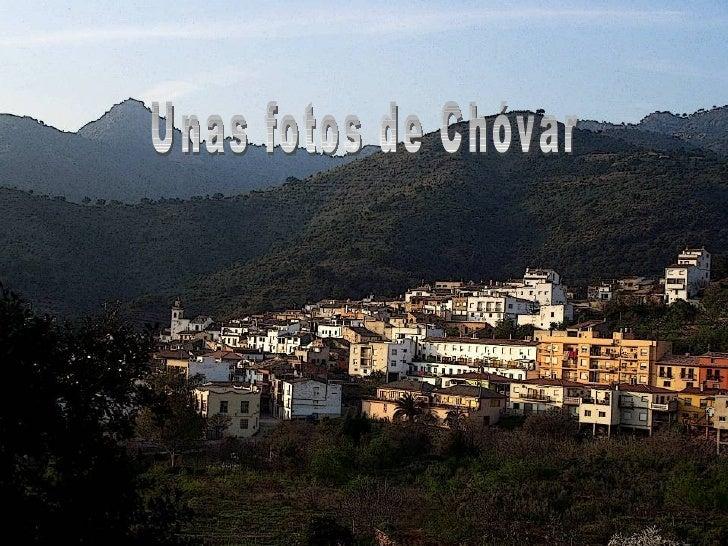 Unas fotos de Chóvar
