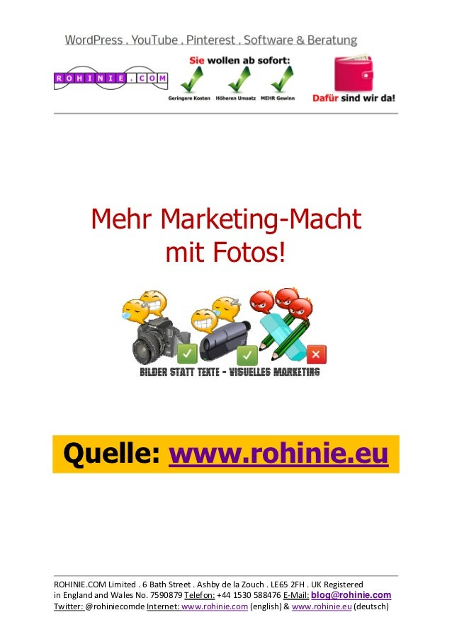 Mit Fotos gibt es mehr Power im Marketing!