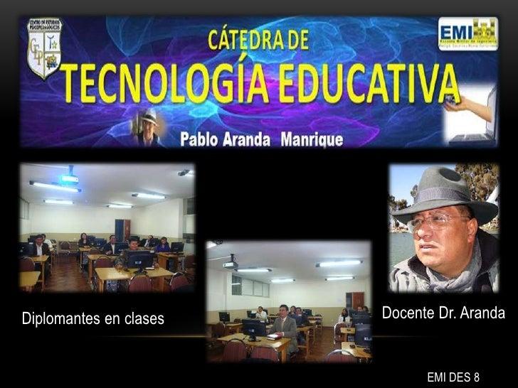 Diplomantes en clases   Docente Dr. Aranda                              EMI DES 8