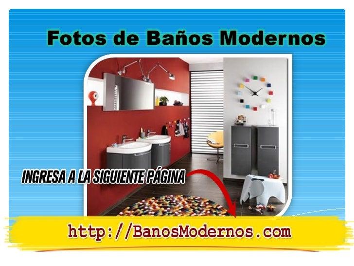 Decoracion De Baños Modernos Fotos:Fotos de baños modernos [Consejos para la Decoración de Baños]