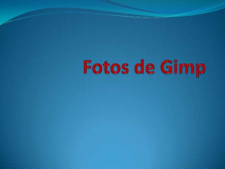 Fotos de gimp