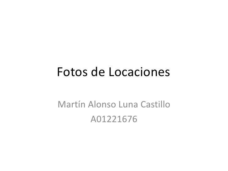 Fotos de locaciones
