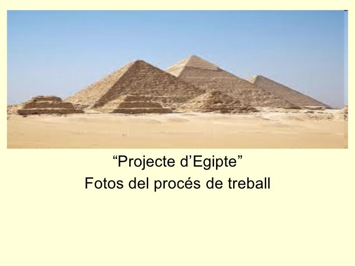 """"""" Projecte d'Egipte"""" Fotos del procés de treball"""