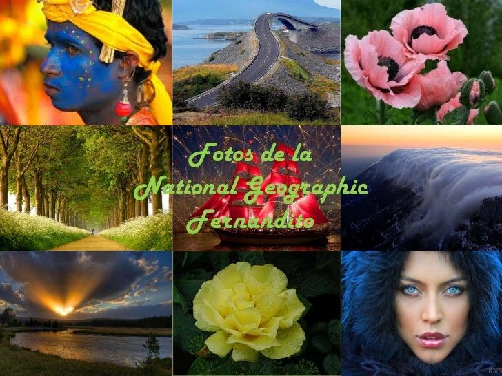 Fotos de laNational Geographic    Fernandito