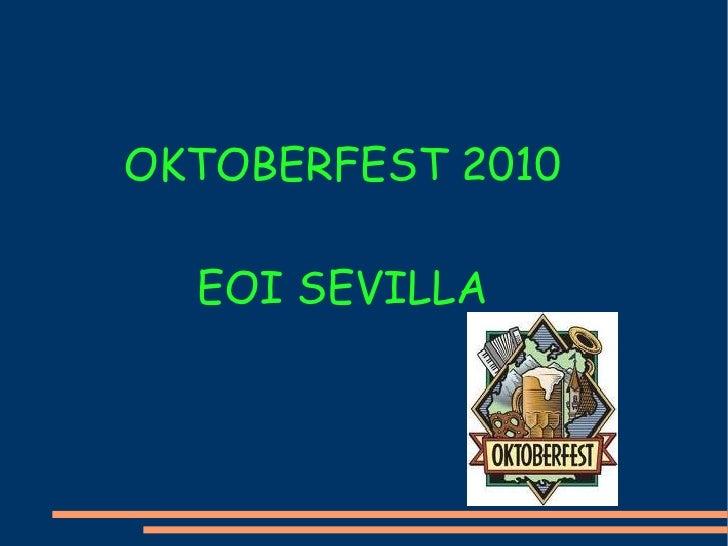OKTOBERFEST 2010 EOI SEVILLA