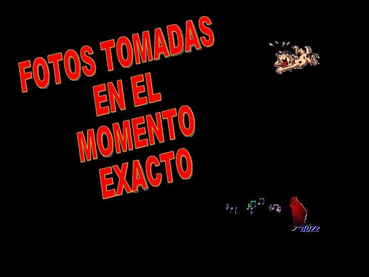 FOTOS TOMADAS  EN EL  MOMENTO EXACTO