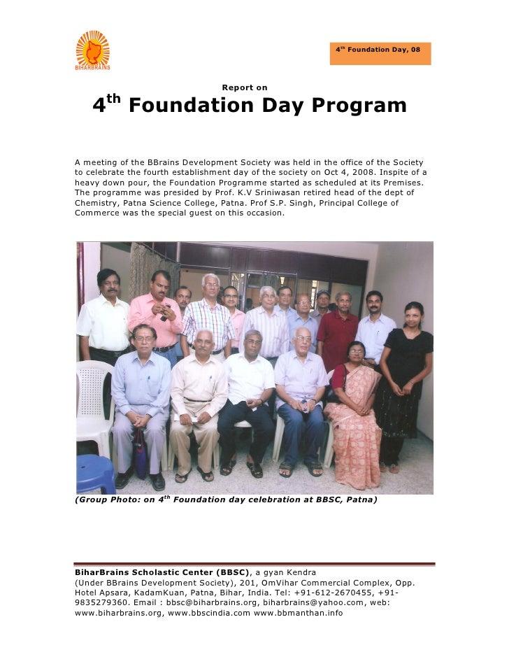 Foundation Day 2008