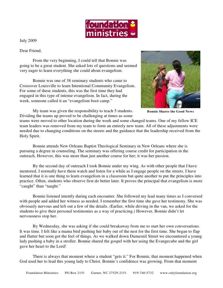 Foundation July 2009 Newsletter
