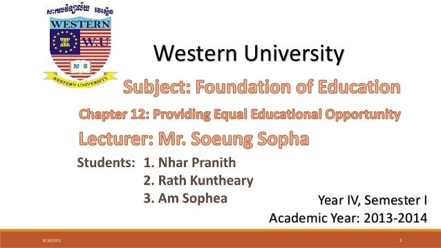 Foundation of education 12