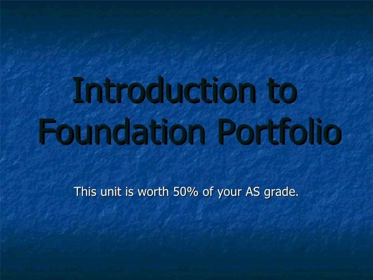 Foundation Portfolio and Preliminary Task Intro incl. Continuity Editing