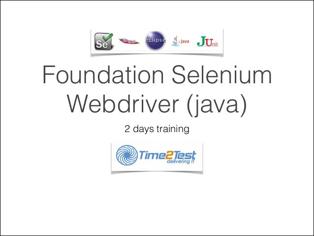 Foundation selenium java