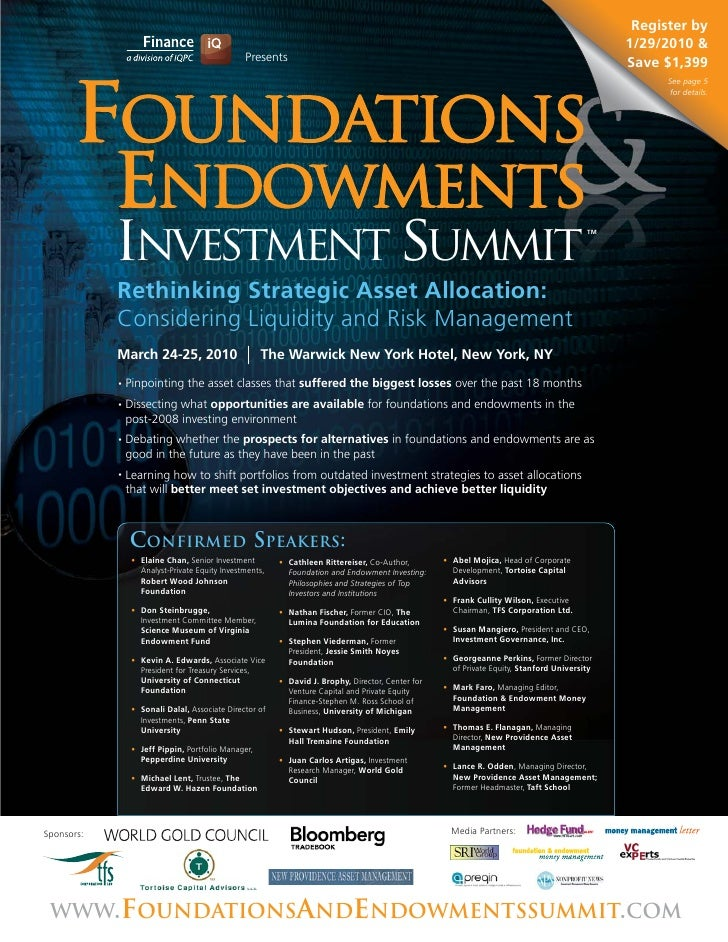 """""""The Foundations & Endowments Investment Summit"""