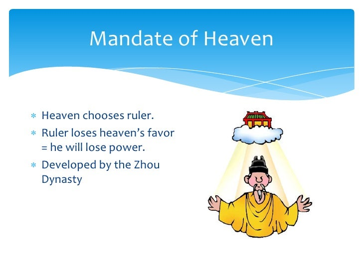 Zhou Dynasty Mandate Of Heaven