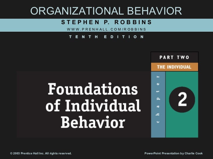 Foundations of individual beh.