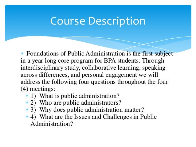 Public Administration what subject to study