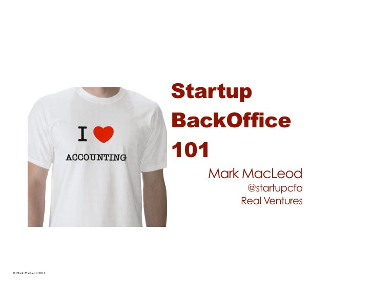 Startup                      BackOffice                      101                         Mark MacLeod                     ...