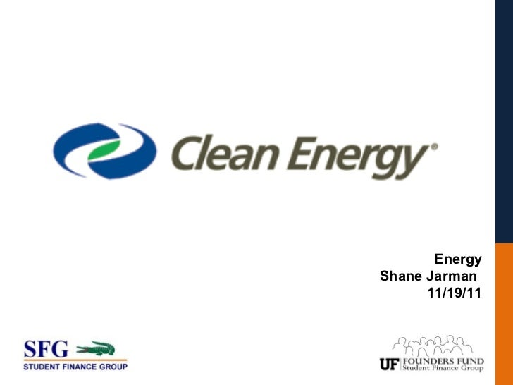 EnergyShane Jarman      11/19/11