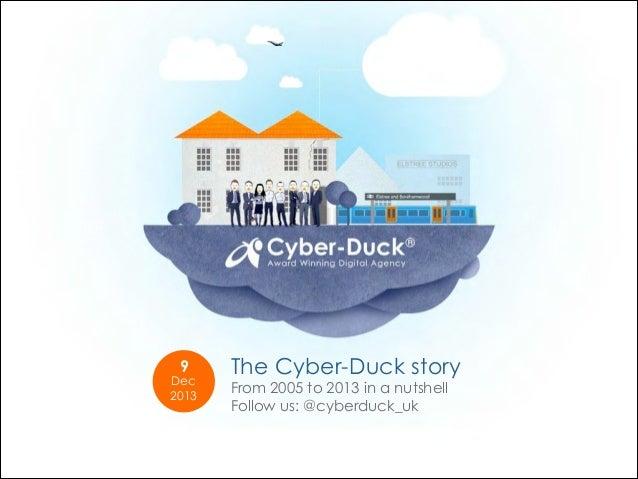 9  Dec 2013  The Cyber-Duck story From 2005 to 2013 in a nutshell Follow us: @cyberduck_uk