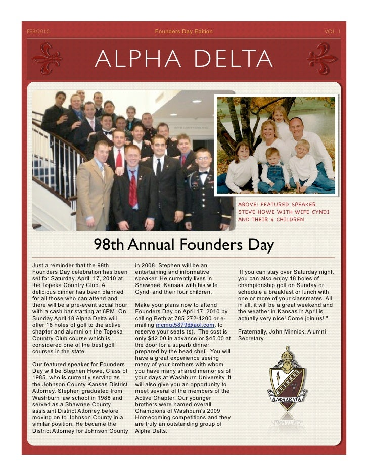 FEB/2010                                         Founders Day Edition                                              VOL. 1 ...