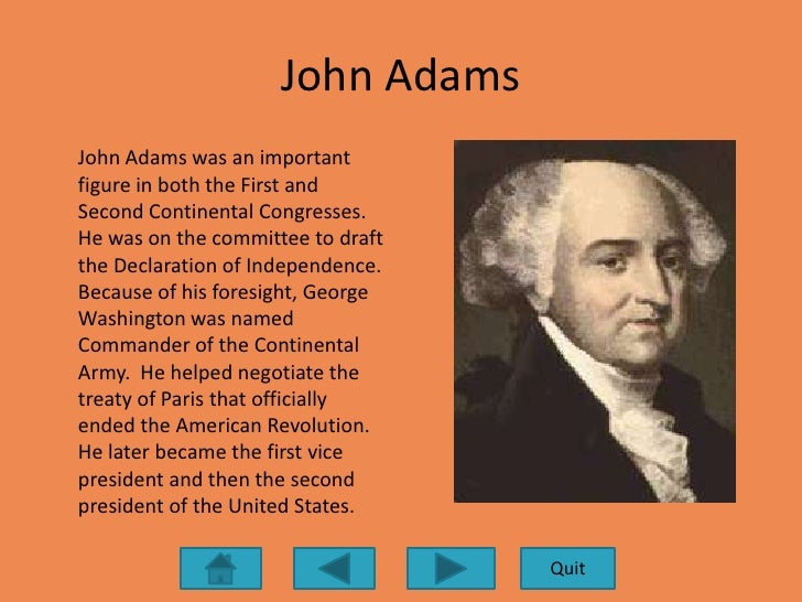 What did founding father john adams accomplish?
