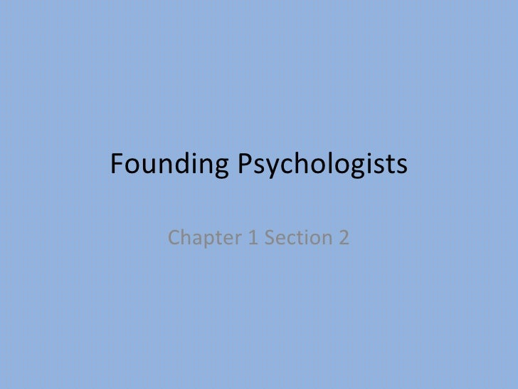 Founding psychologists