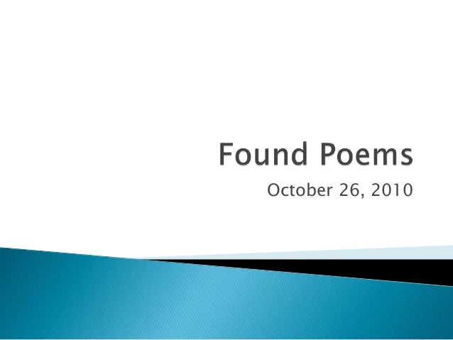 Found poems