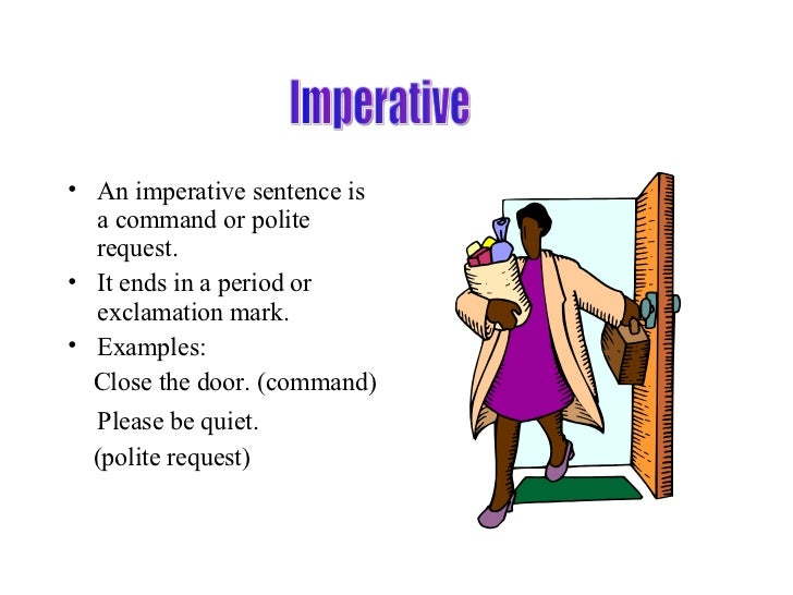 Imperative Sentence Examples With Pictures : galleryhip ...