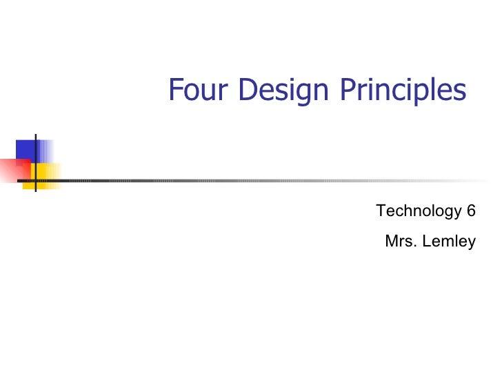 Fourdesignprinciples