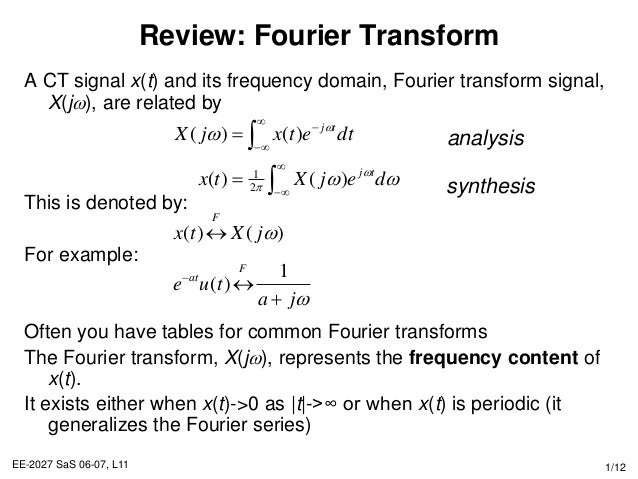 Properties of fourier transform - Fourier series transform table ...