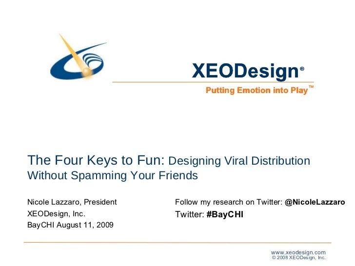 Four Keys To Fun BayCHI Slides 100n081109