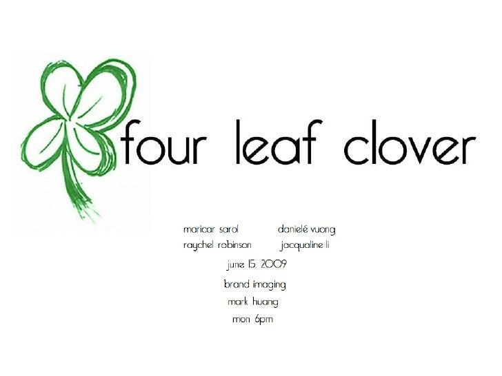 Four Leaf Clovers Presentation