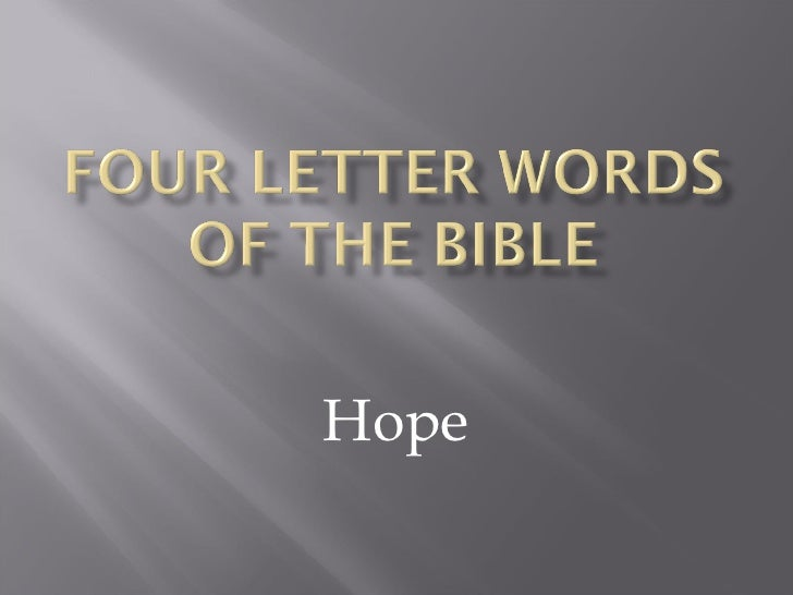 Four letter words of the bible2003