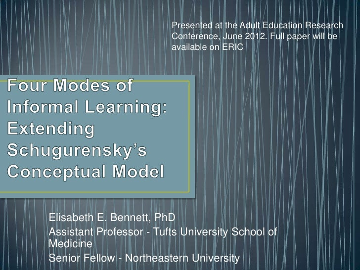 Presented at the Adult Education Research                         Conference, June 2012. Full paper will be               ...