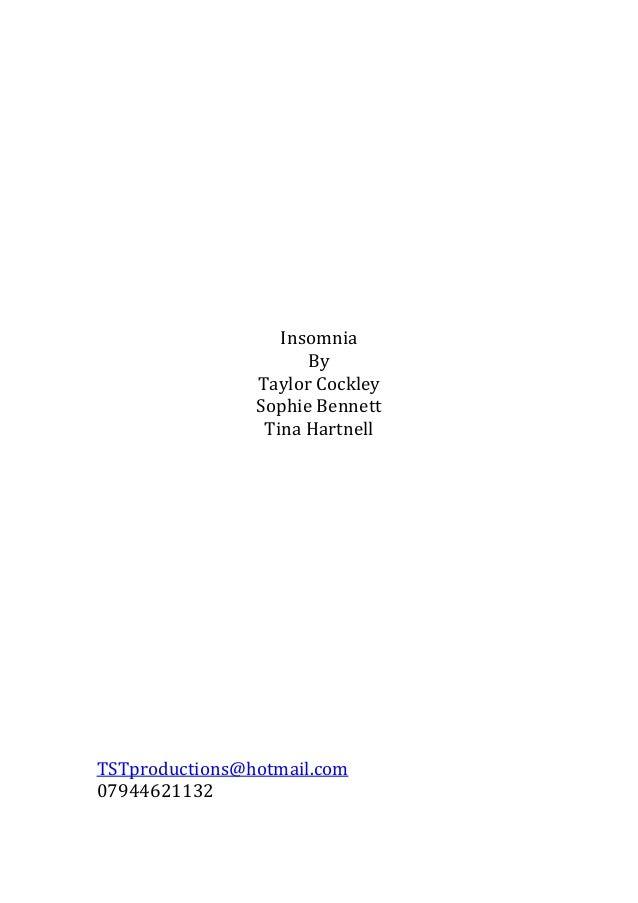 Four page sample script