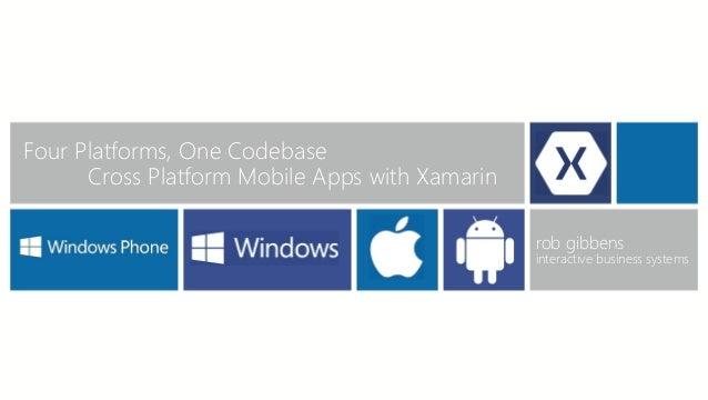 Four Platforms, One Codebase