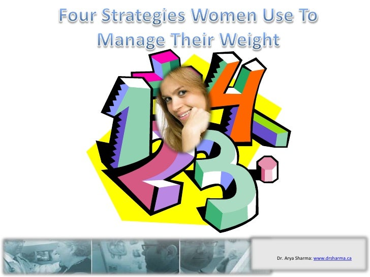 Four Strategies Women Use To Manage Their Weight<br />