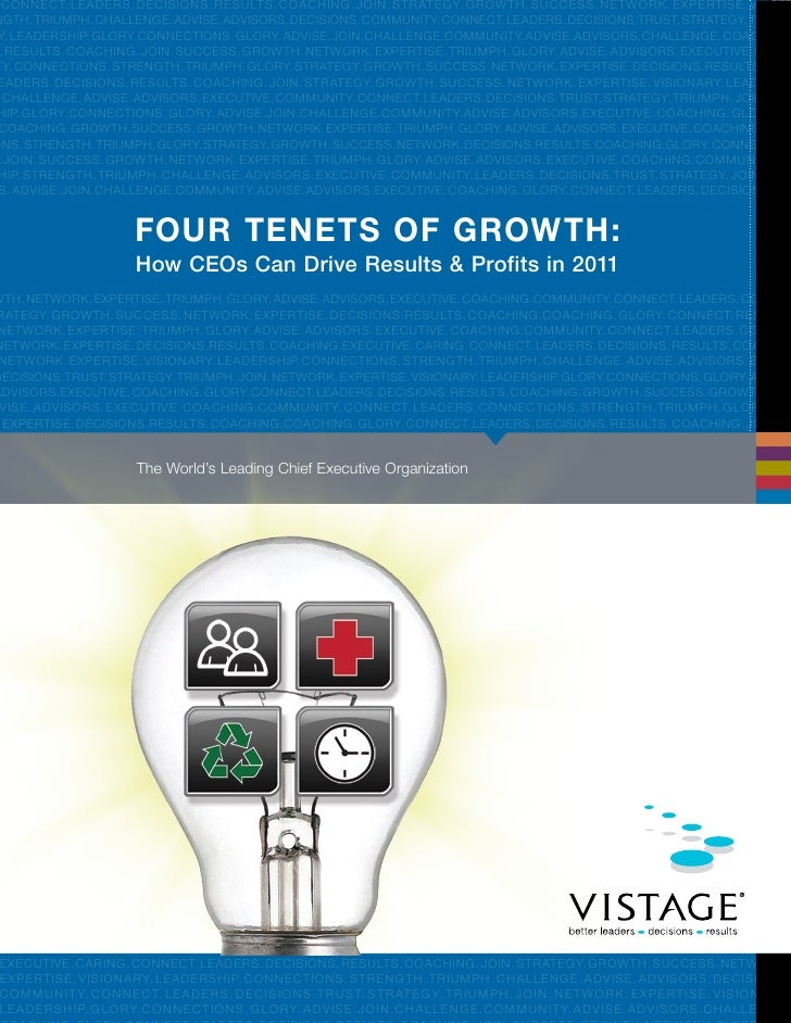 Vistage Four Tenets White Paper