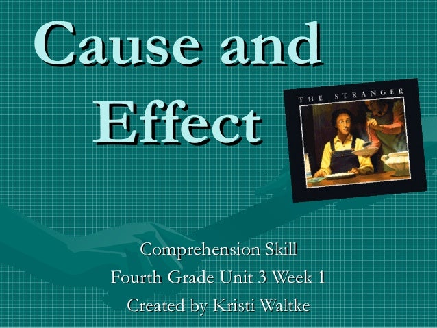 Cause and Effect Comprehension Skill Fourth Grade Unit 3 Week 1 Created by Kristi Waltke