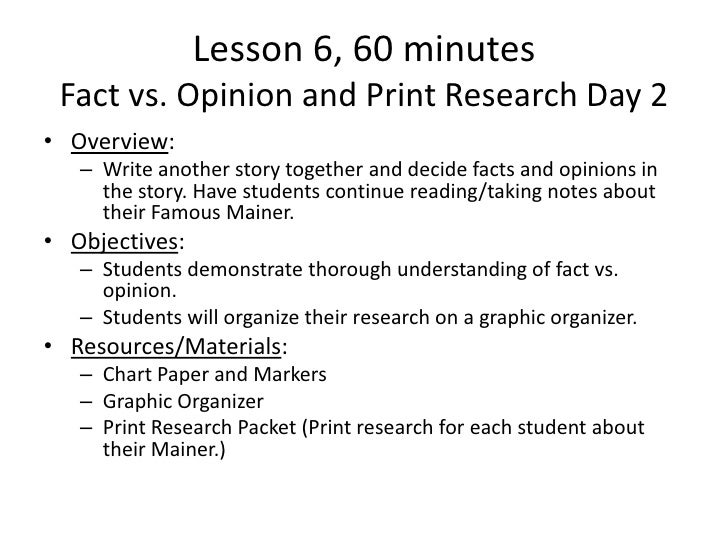 opinions research papers