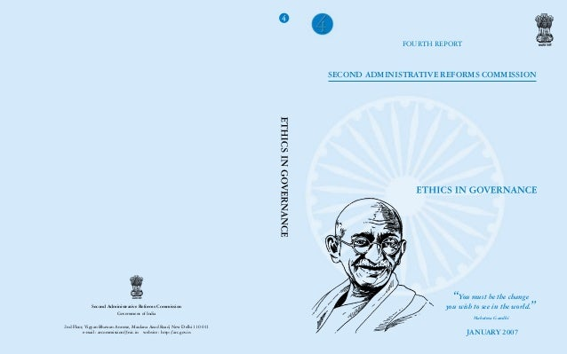 Second ARC(Fourth Report) Ethics in Governance(Government of India)